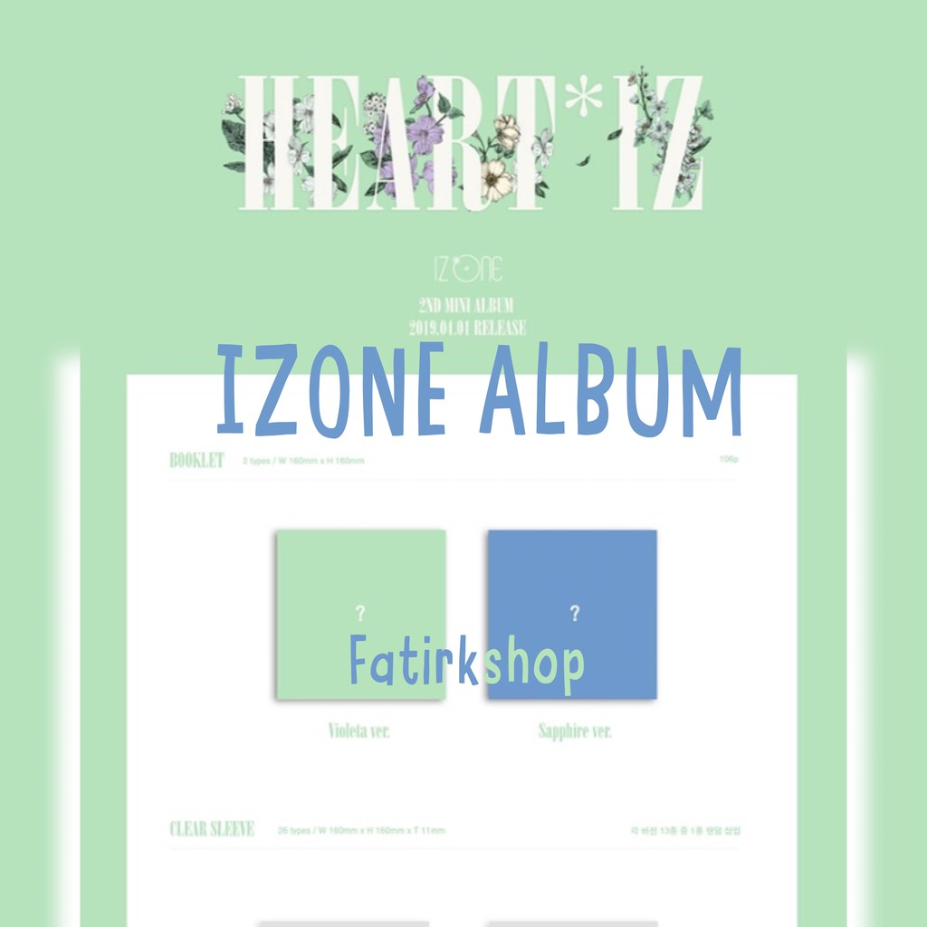 Izone HEARTIZ 2nd Mini Album Choice Ver and Set