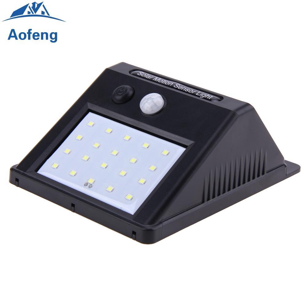 4X 20 LED Solar Power PIR Motion Sensor Wall Security Light Lamp Garden Outdoor