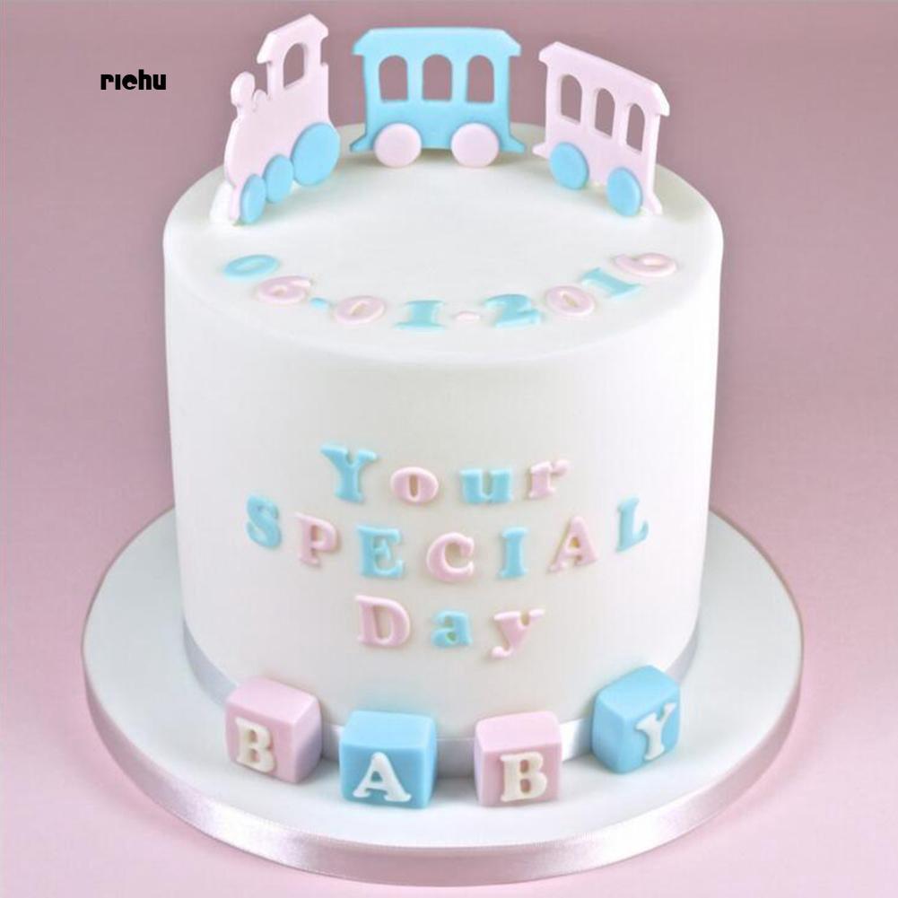 Prime Richu 4Pcs Set Letter Alphabet Fondant Cake Mold Baking Tool Funny Birthday Cards Online Hendilapandamsfinfo