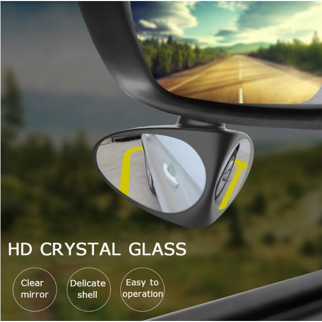 2 Pcs Car Blind Spot Mirror 360 Degree Adjustable Beam Angle Front Wheel Mirror