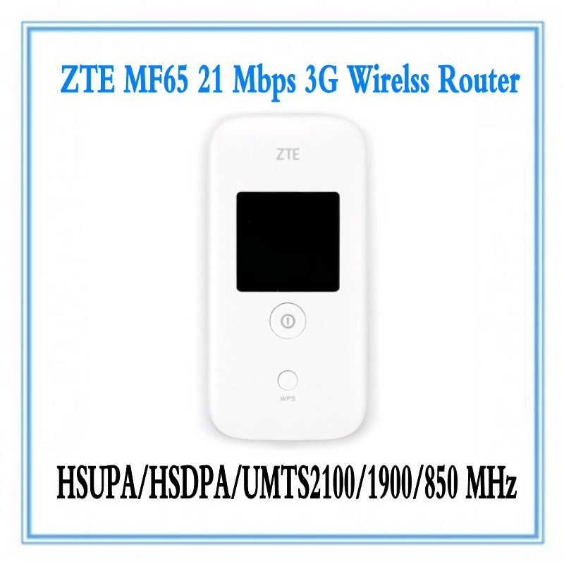 Unlocked ZTE MF65 MF65+ HSPA+ 21 6Mbps 3G Wireless Router