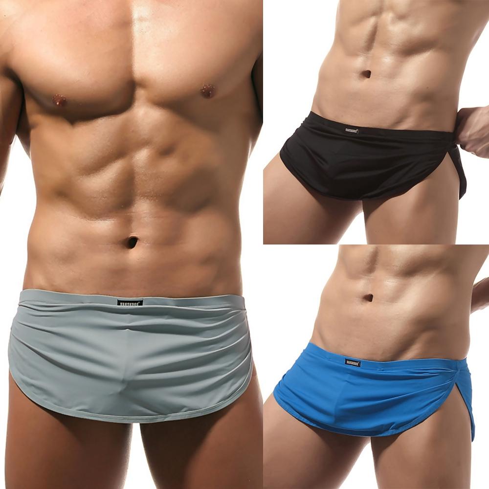 Men Sex Dual Layers Underwear G-string Thongs Bulge Pouch Briefs Lounge |  Shopee Singapore