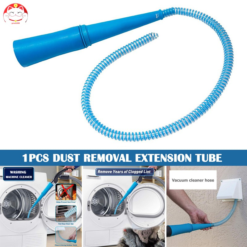 Air Conditioning Air Vents Washing Machine Car Dryer Lint Vacuum Attachment Dust Cleaner Tube Pipe Hose Universal Dirt Remover For Drer