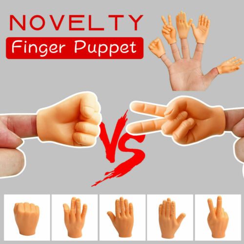 Tiny Hands Finger Puppets Mini Finger Hands with Left Hands and Right Hands for Game Party Funny Tricks