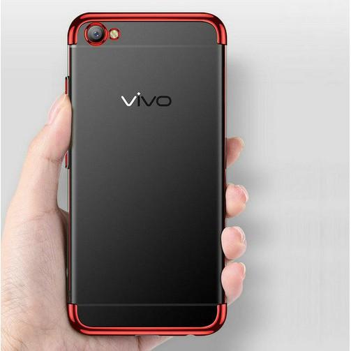 Plating  Soft Clear TPU Case VIVO Y91 Y95 Y85 Y81 Y83 Y71