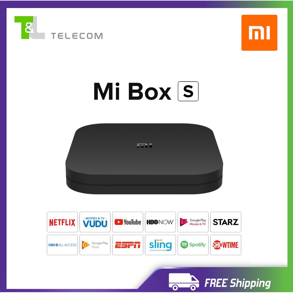 Xiaomi Mi Box S - Android TV with Google Assistant Remote Streaming Media  Player - Chromecast Built-in - 4K HDR - Wi-Fi