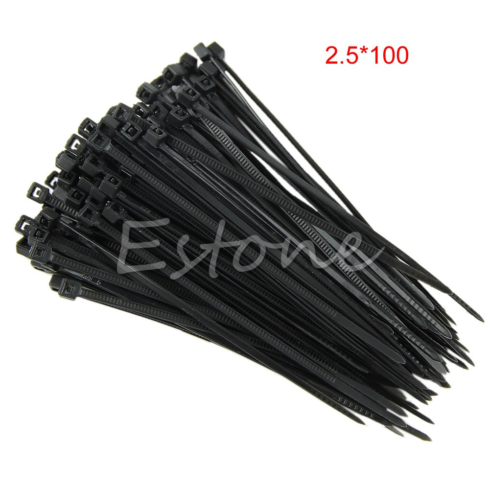 Nylon Plastic Cable Ties Zip Tie Wraps Black Natural Coloured 100mm 200mm 300mm