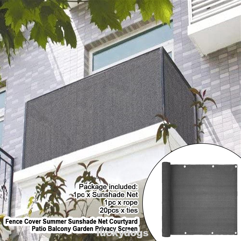 Fence Swimming Pool Summer Privacy Screen Balcony Garden Courtyard Patio With Ties Sunshade Net Shopee Singapore