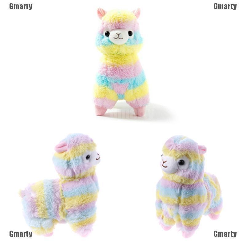 1Pc Cute 20cm soft rainbow alpaca llama plush toy dolls kids baby gift
