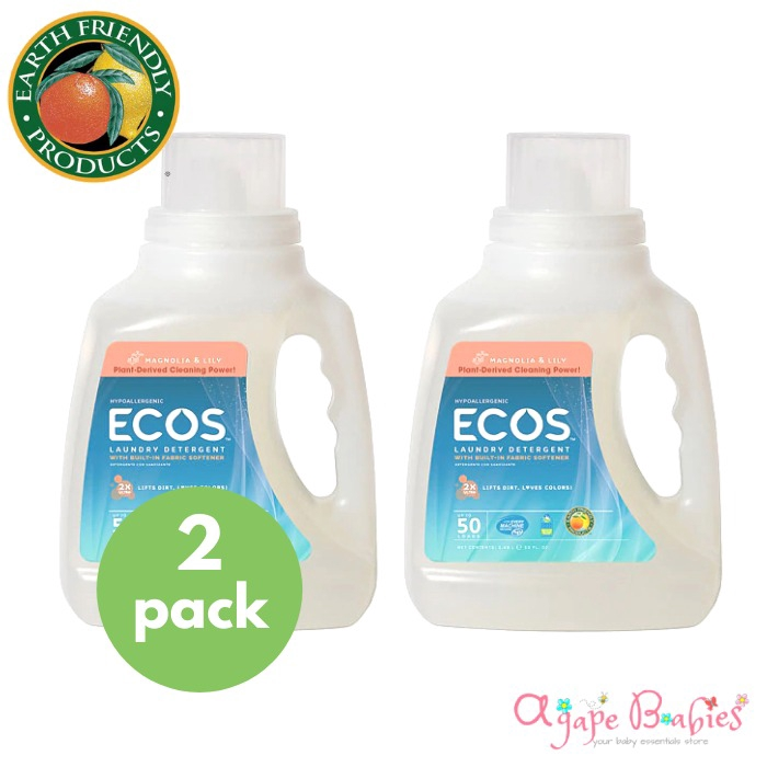 Bundle Of 2 Ecos Earth Friendly 2x Concentrate Ecos Laundry Liquid Magnolia Lily Ultra Concentrated 50 Oz Shopee Singapore