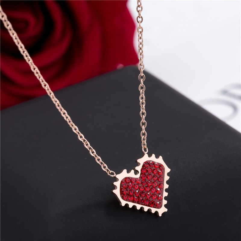 New 1pcs rose Browning Deer necklace Women gift Jewelry Dangle Heart Earrings//1