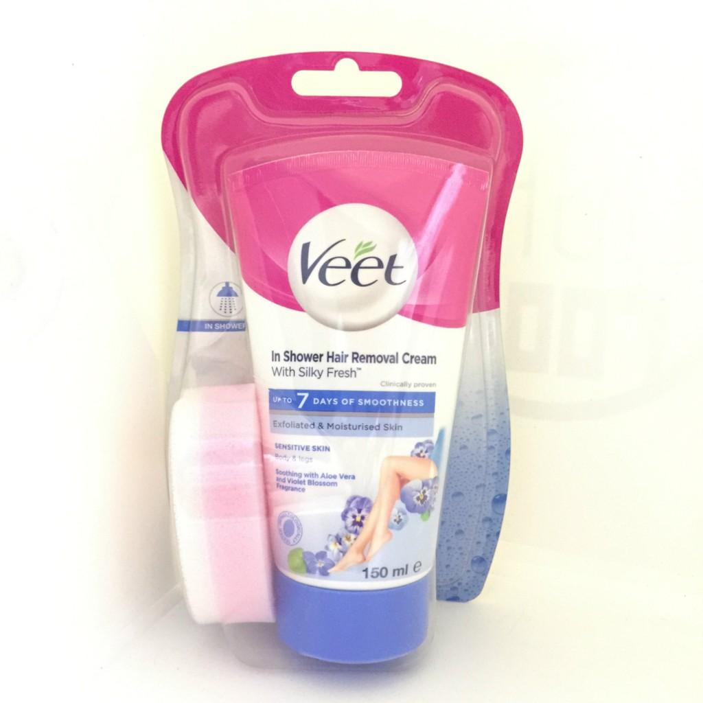 Veet Silk Fresh Technology In Shower Hair Removal Cream For