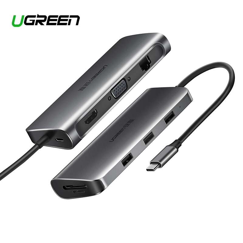 Ugreen Original Usb Hub Usb C To Hdmi Vga Card Reader Rj45
