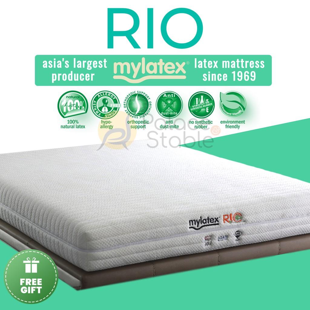MyLatex Rio, 8 & 5-inch Natural Latex Mattress | Shopee Singapore