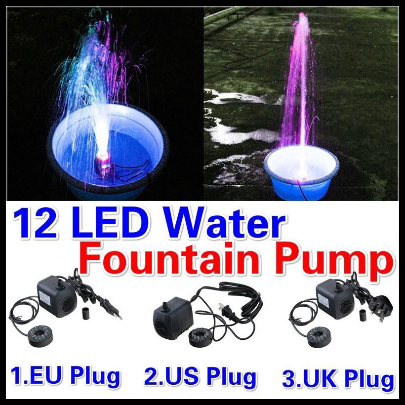 Air Fish Tank 220V 15W 800L//H EU Plug Submersible Fountain Aquarium Water ujkl