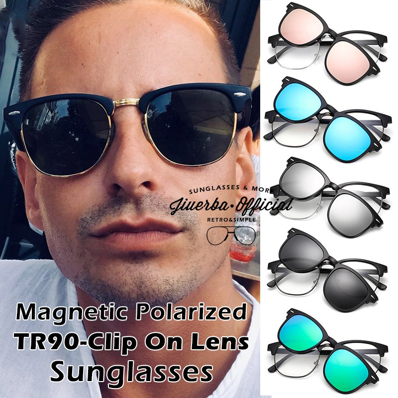 ????Ready Stock????Magnetic Clip On Polarized Sunglasses WomenMen