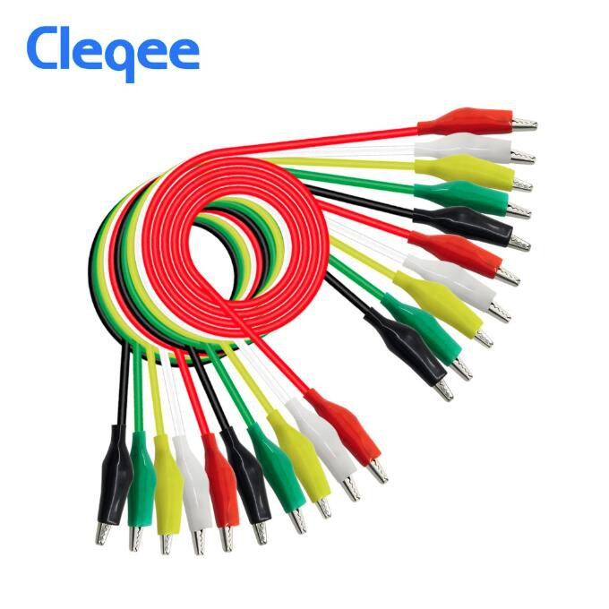 10pcs Double-Ended Crocodile Clips Cable Alligator Jumper Wire Test Leads 50cm O