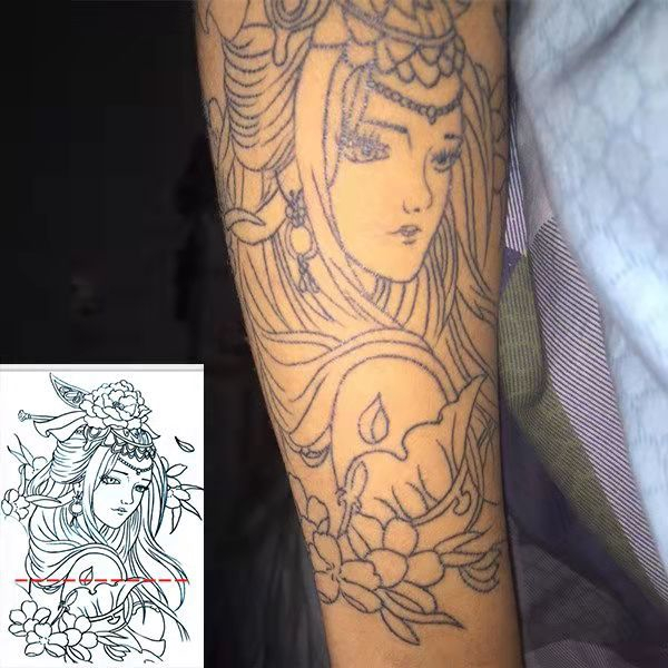 Cut Tattoo Arm Body Art Temporary Tattoo Stickers Waterproof Body Art Decal Shopee Singapore