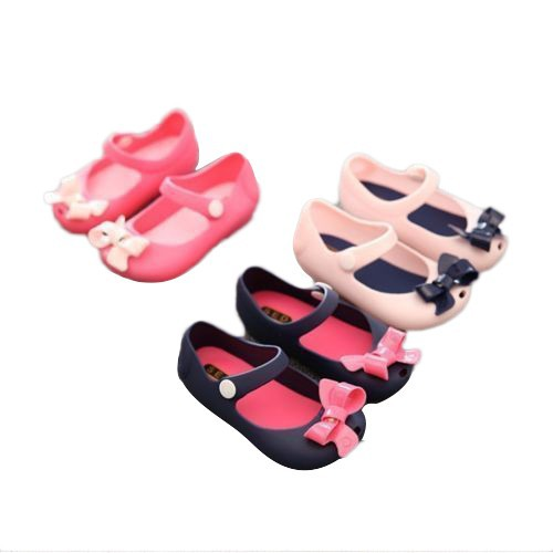Kids Girl Toddler Cartoon Cute Bow Sandals Summer Jelly Rubber Infant Shoes Size