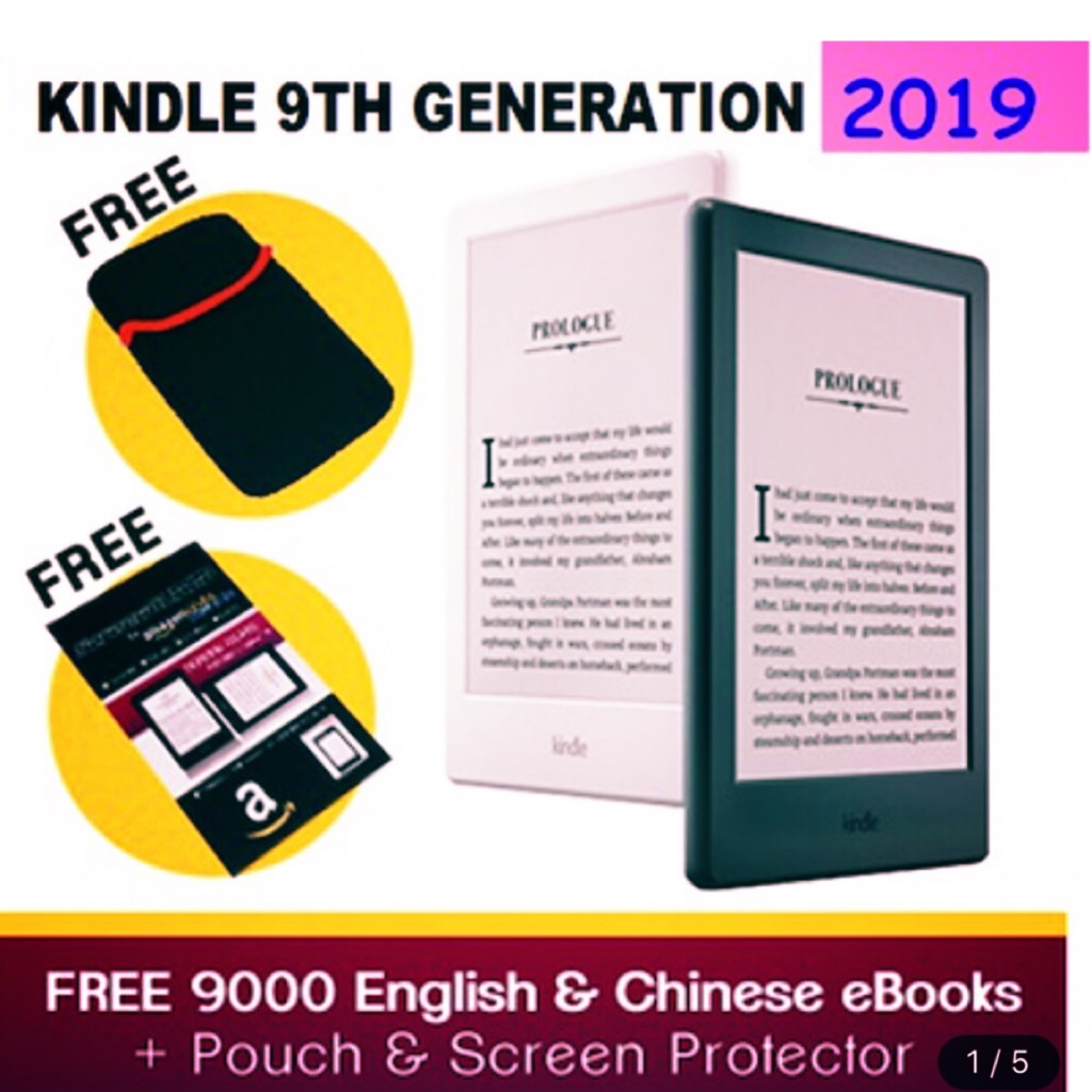 ★ValueBestAsia★ Amazon All-new Kindle Gen 9 - Now with a Built-in Front  Light - Black~ Free 9000 eBooks,screen protector
