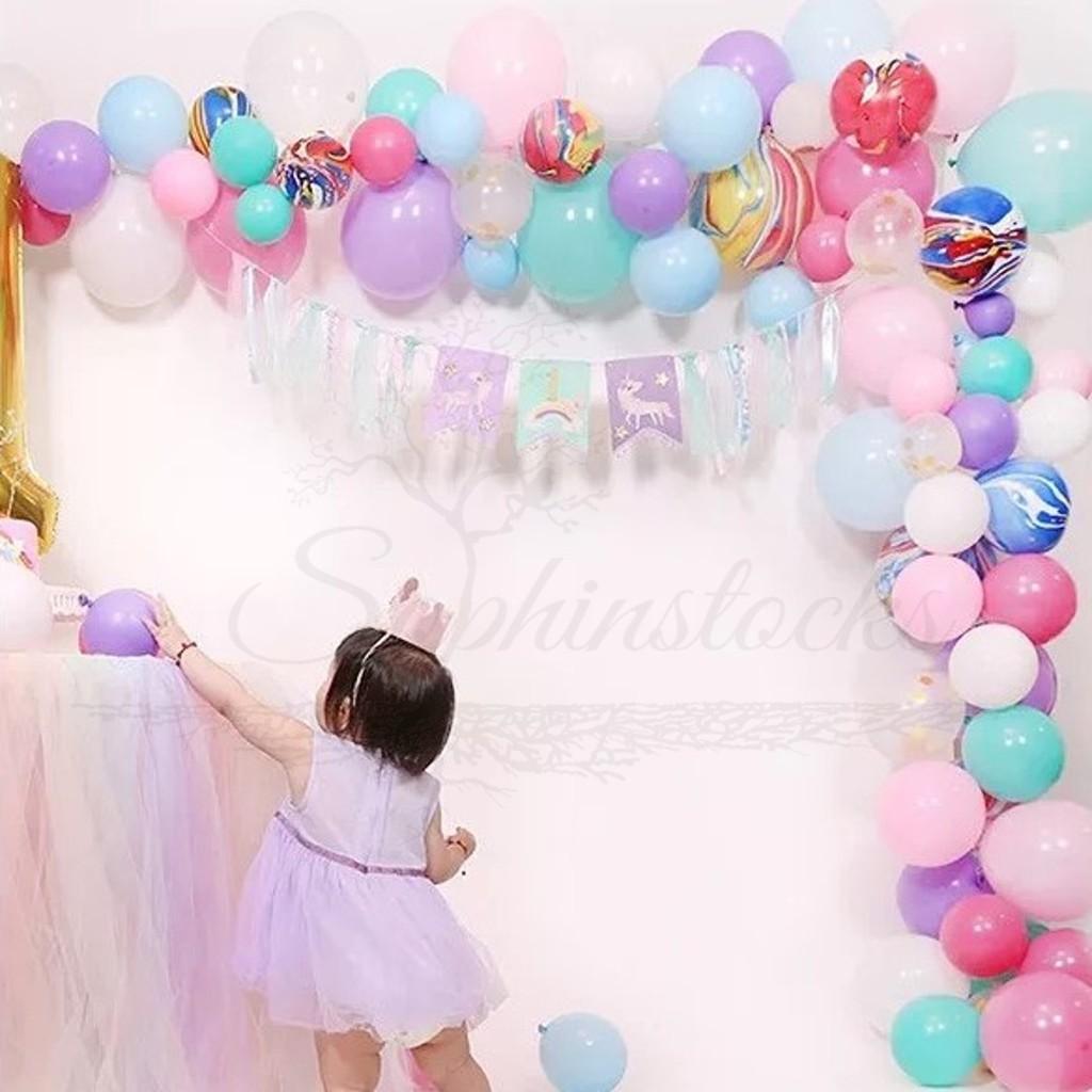 Sg Diy Unicorn Rainbow Balloon Garland Shopee Singapore