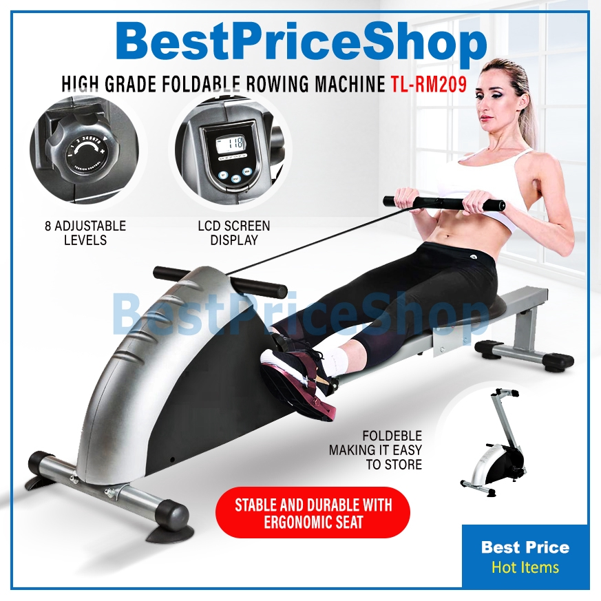 BPS Gym Grade Foldable Rowing Machine Resistance Adjustable Fitness Cardio  Fast Slimming Weight Lost Exercise TL-RM209   Shopee Singapore