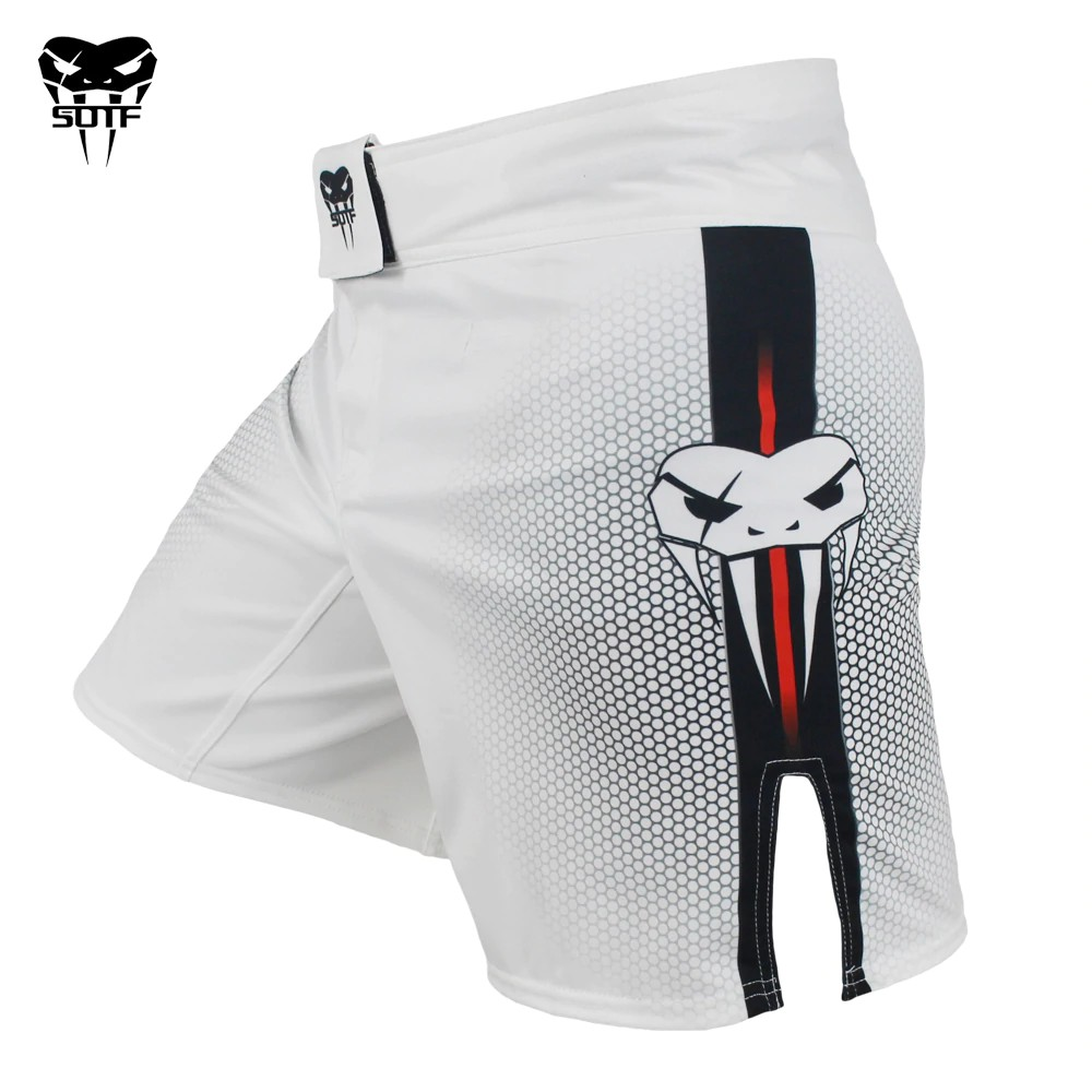 Black White Muay Thai Boxing Mma Fitness Training Pants Boxing Shorts Tiger Muay