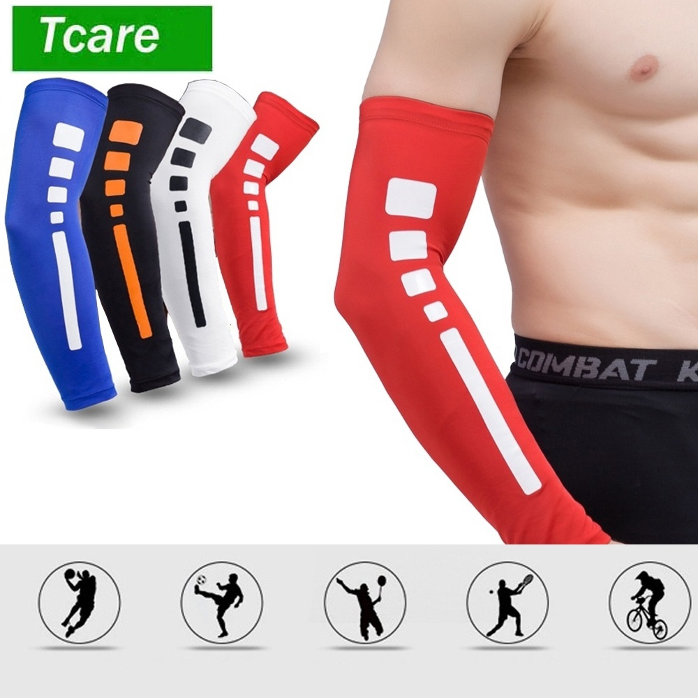 Unisex UV Protection Sleeves Arm Cooling Sleeves Arm Cover Sleeves 1 Pair Blue XL Ice Silk Arm Sleeves