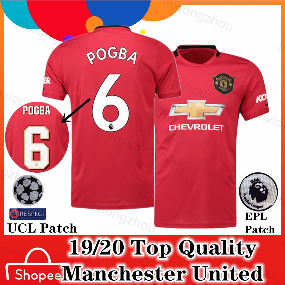 new product 22789 55a24 Top quality 19/20 Manchester United Home Football Jersey