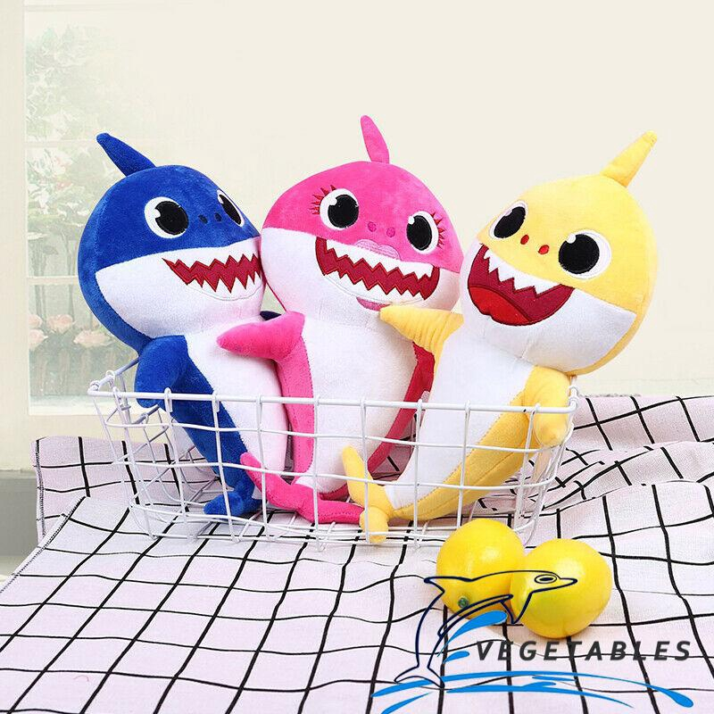 Soft Dolls Baby Shark toy with Music Sound Cute Animal Plush Singing English Dol