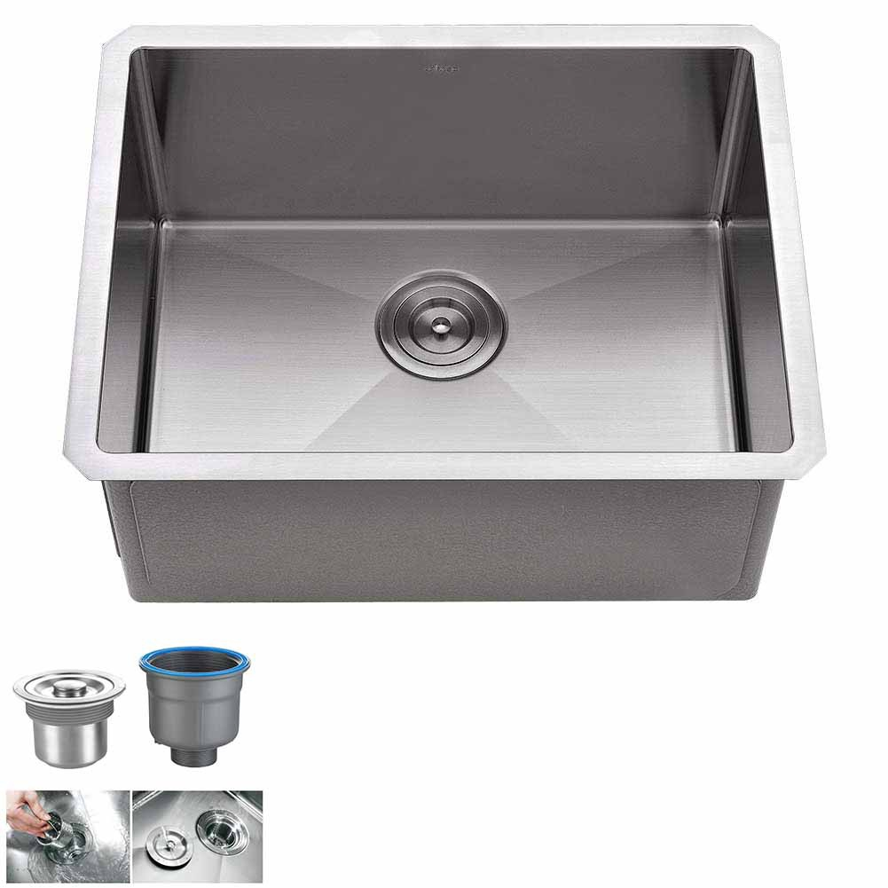 Single Bowl Kitchen Sink Undermount 18 Gauge Commercial Stainless Steel Deep Laundry Utility Sink Shopee Singapore