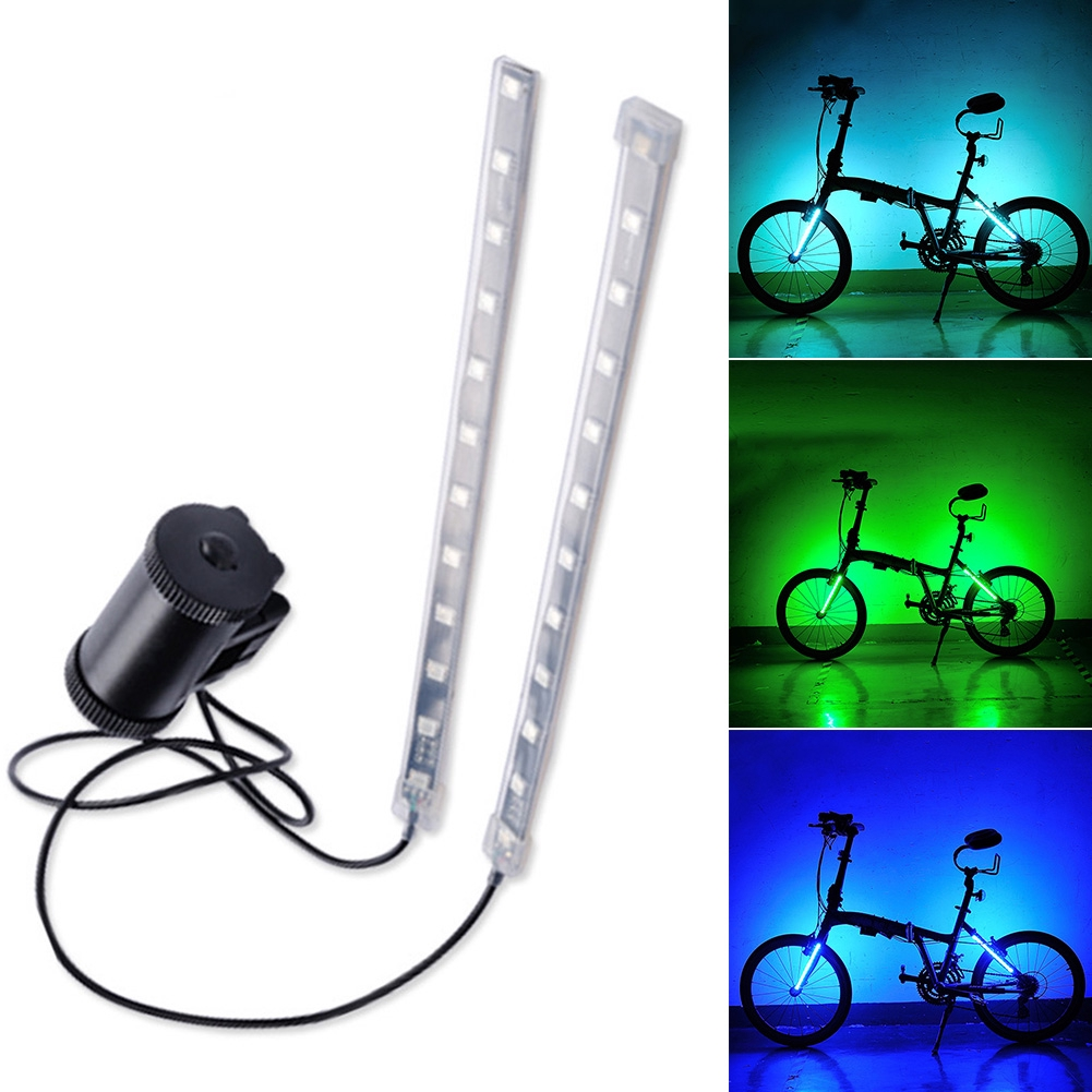 2Pcs LED Water-resistant Bycicle Front Light Headlamp Headlight Bike Lamp SaNWUS