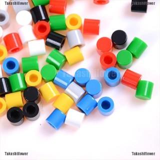 10pcs Momentary Tact Tactile Push Button Switch 12x12x12mm 4 Pin Cap BB