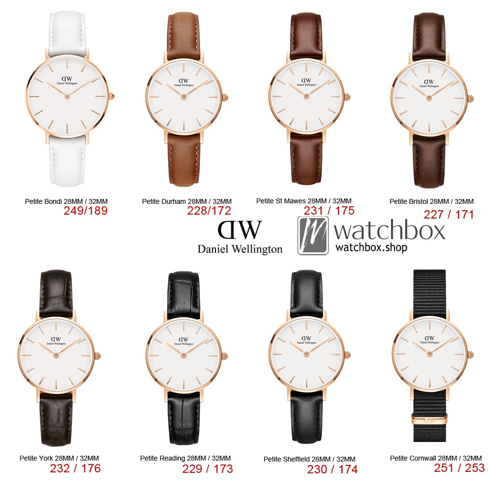 880650f605d2 Original Daniel Wellington DW Classic Petite Gold White Women Watch 28MM 32MM