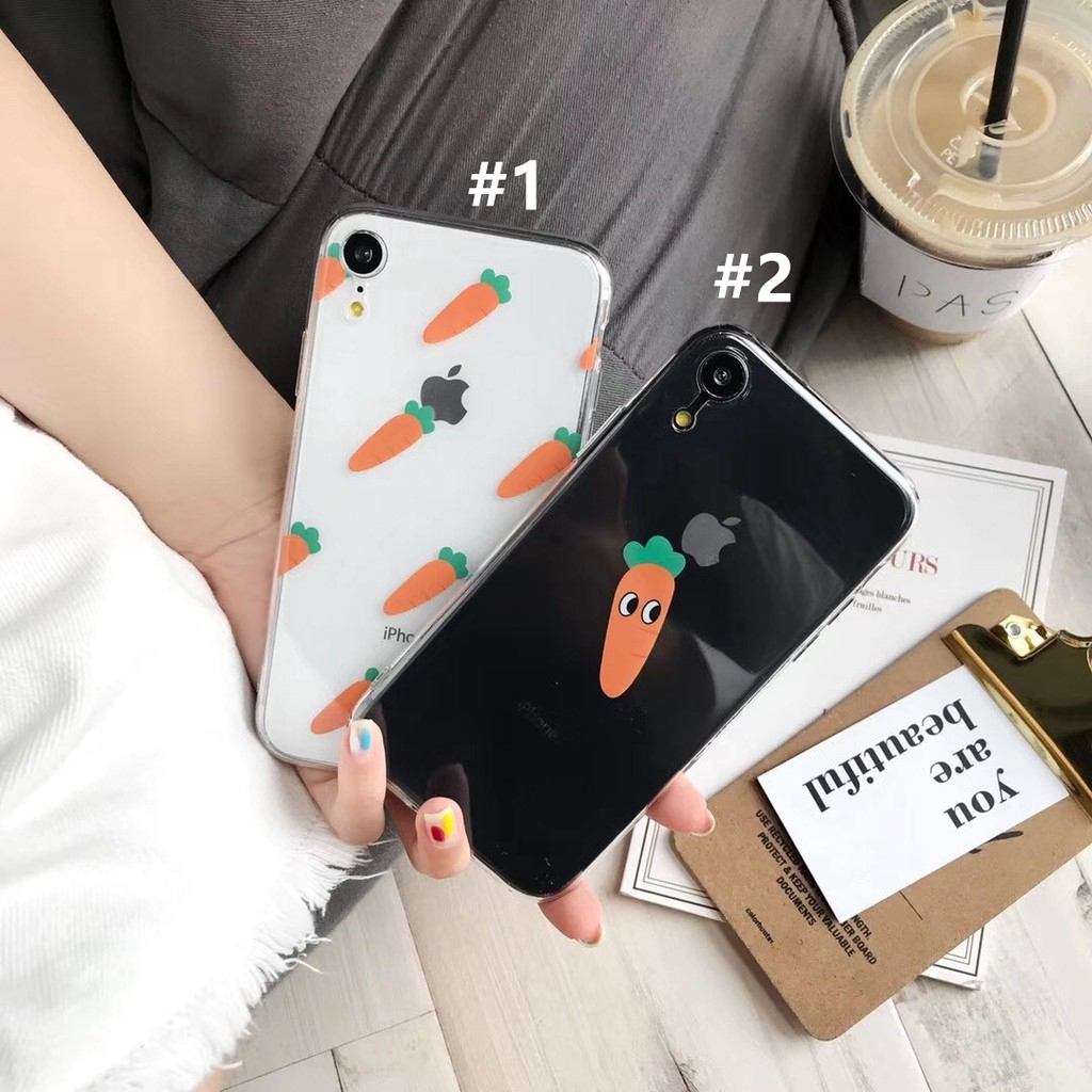 Casing For IPhone 6 6S 7 8 X XS MAX XR Plus Carrot transparent TPU Case  cover