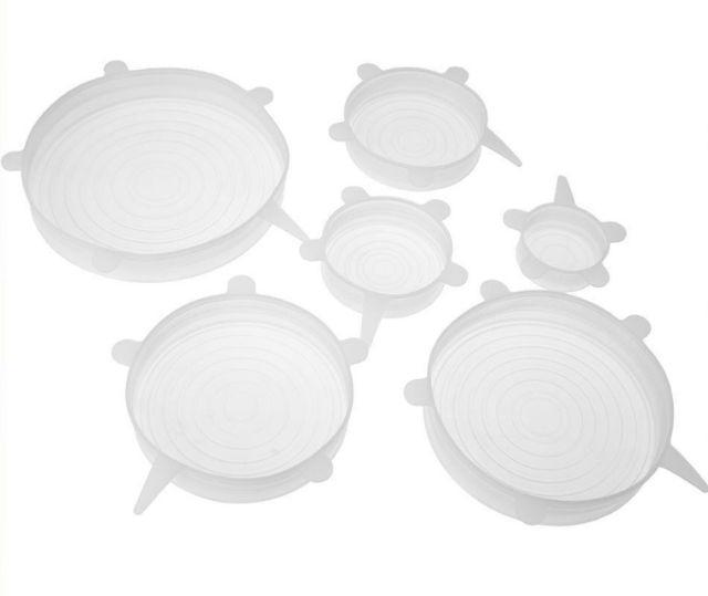 12pcs//set Heat Resistant Silicone Stretch Lids Food Wrap Bowl Pot Pan Cover L/&6