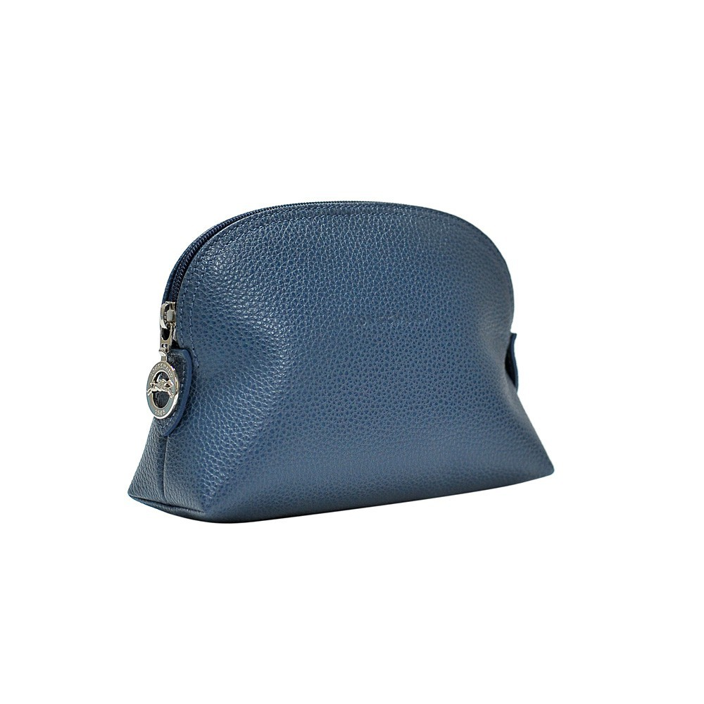 9bfcdedae Longchamp Pilot Blue Le Foulonne Cosmetic Case | Shopee Singapore