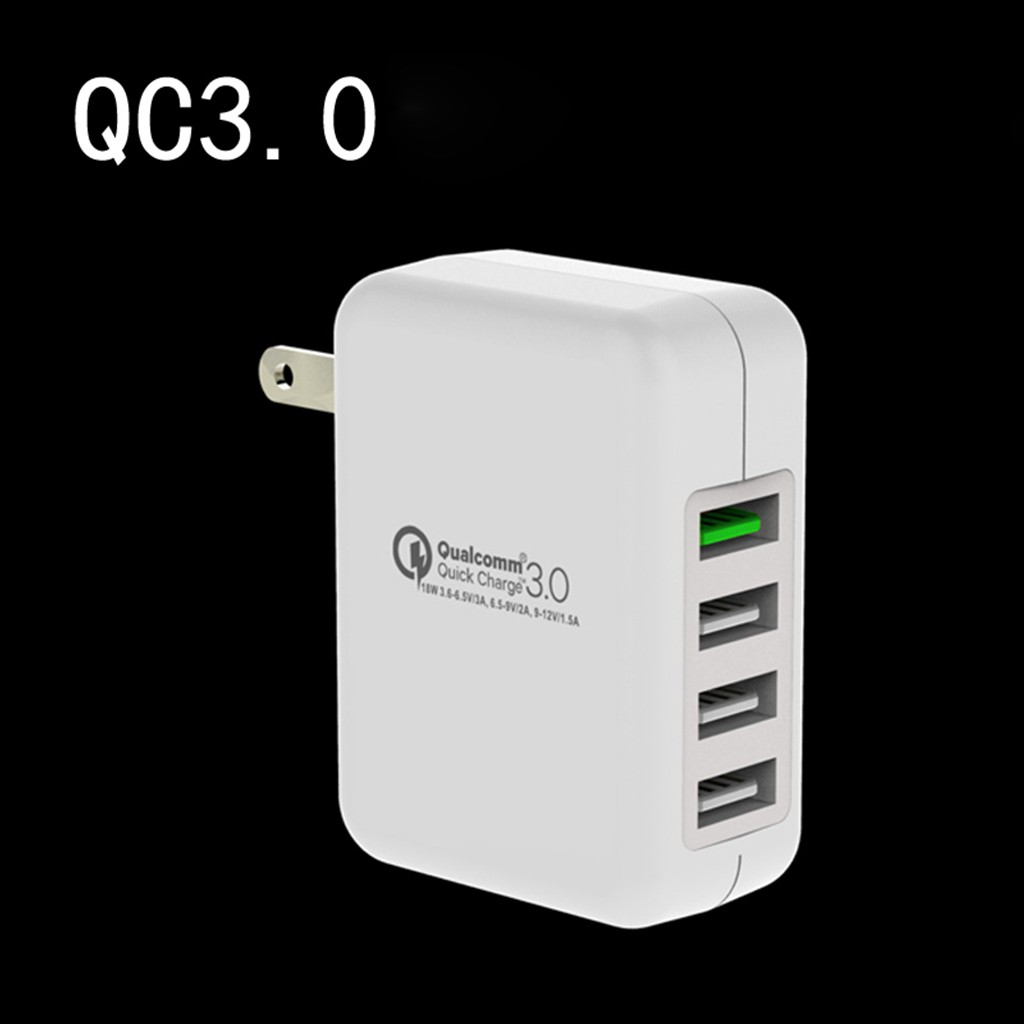 Us Plug Qc30 Quick Charge Travel Home Ac Wall Usb Charger For Bolt 21a Fast 3in1 Cable Iphone X 8 7 Ipad Shopee Singapore