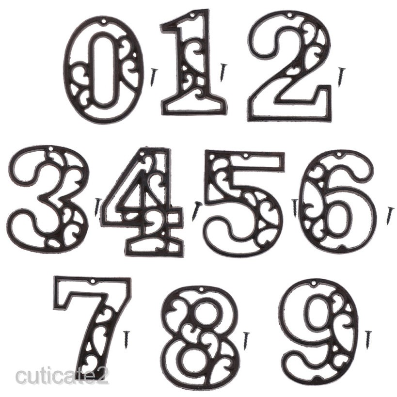 0-9 10cm Acrylic Stylish NUMBER Mirror House// Door Number// Scrapbooking