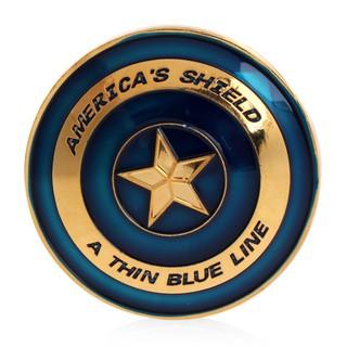 Gold Plated America Shield Blue Line Commemorative Challenge