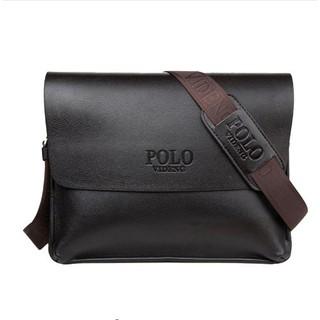 bcd77919699e Polo Men s Genuine Leather Messenger Briefcase Bag Business Notebook bag