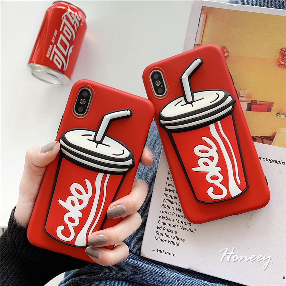 Coca Cola Girl Hard Phone Cases for IPhone XS XR X 8 7 6
