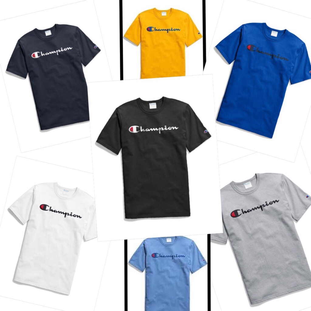 8a8d2164 AUTHENTIC CHAMPION T425 Classic Logo T-Shirt Tee 【FROM USA】   Shopee  Singapore