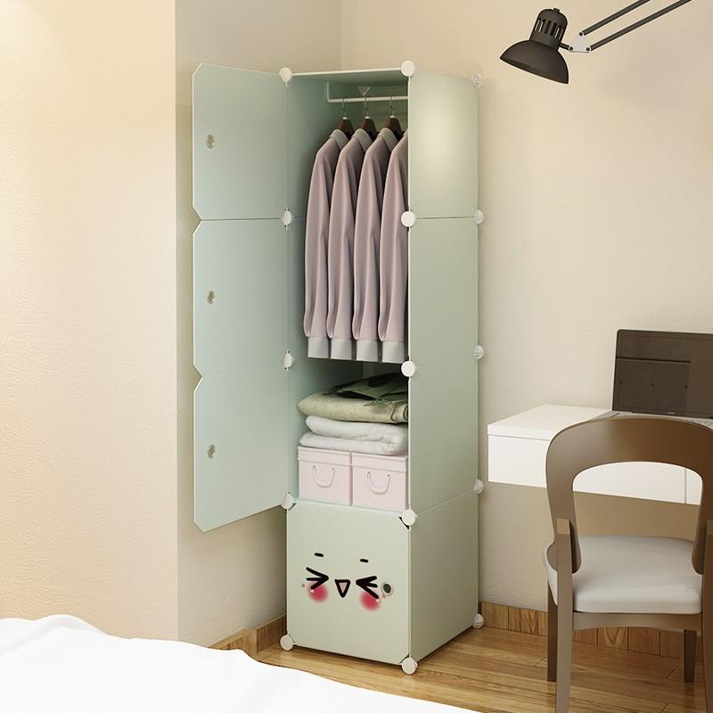 Single Wardrobe Single Door Clothes Cabinet Simple Dormitory Balcony Bedroom Plastic Student Small Mini Girl Room Shopee Singapore