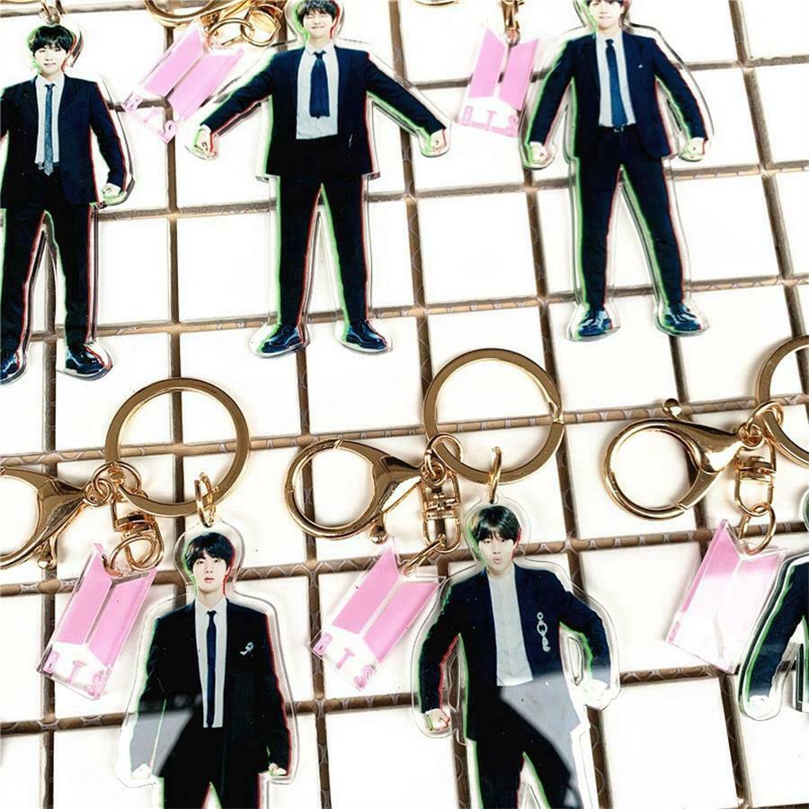 Kpop BTS Uniform Double-sided Acrylic Keychain Phone Bag Pendant Charm
