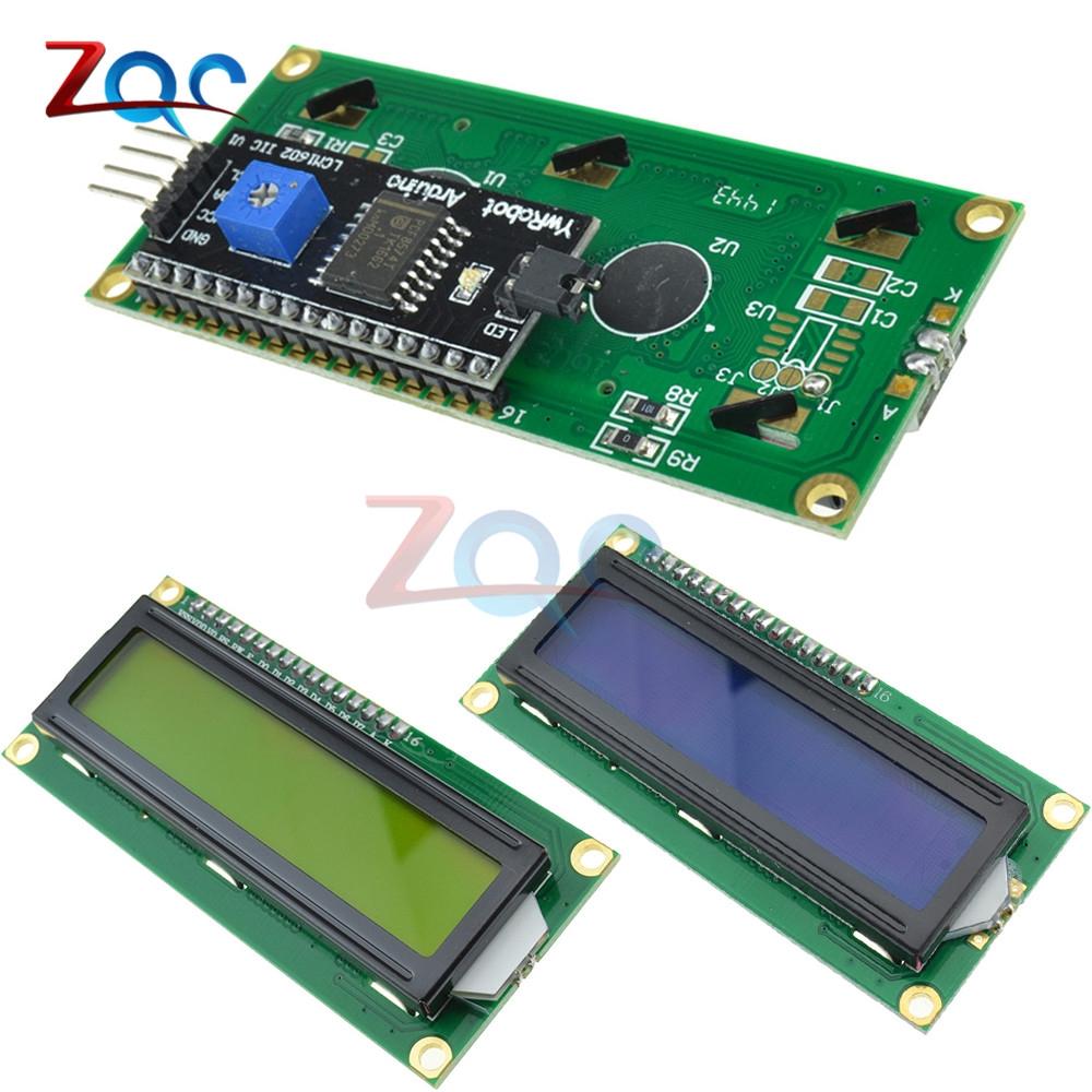 IIC/I2C 1602 LCD Display Module LCD-1602 I2C Blue Yellow Backlight Display  5V