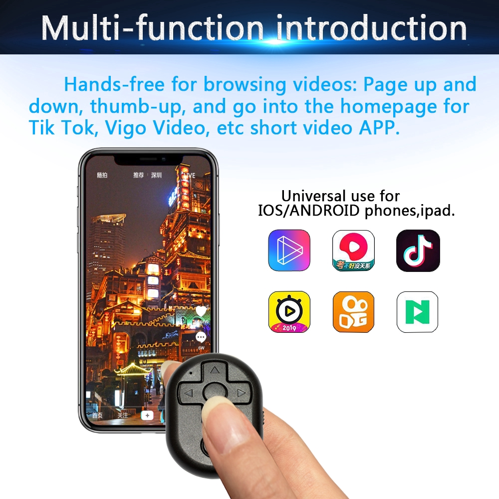 Remote Control For Tik Tok Vigo Short Video App Universal Use iOS Android  ALSG