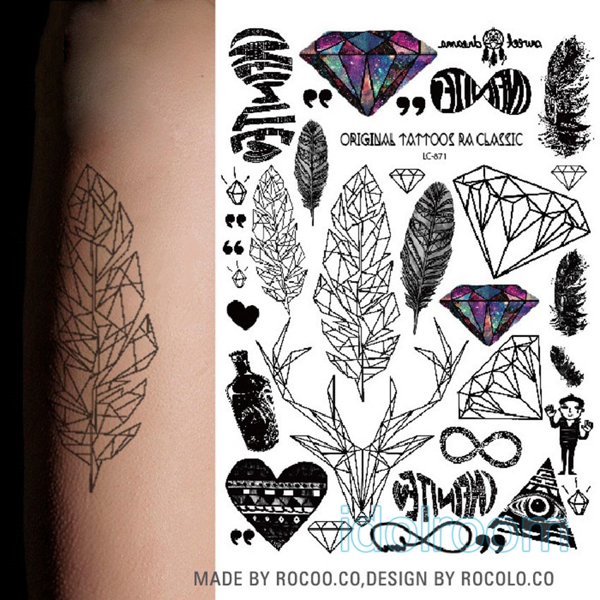 Removable Temporary Tattoo Arm Body Art Tattoos Sticker Waterproof Dg Shopee Singapore