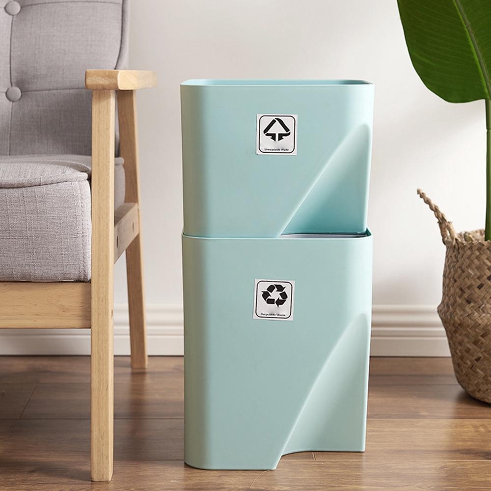 Kitchen Trash Can Recycle Bin Stacked Sorting Trash Bin Household Dry Wet Separation Waste Bin Rubbish Bin Shopee Singapore