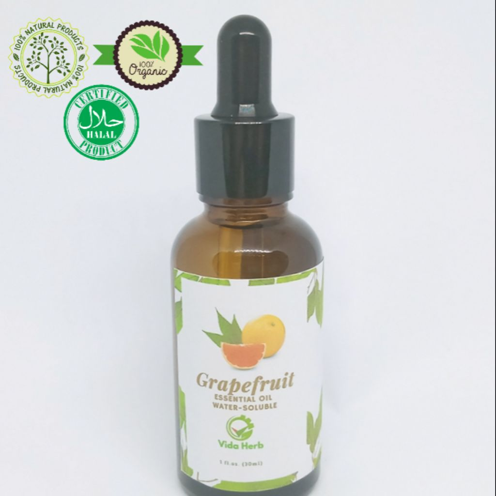 Grapefruit Essential Oil 30ml Water Soluble Premium Quality Gc Ms Tested Iso Certified Fda Registered Facility Shopee Singapore